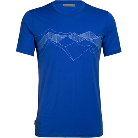 Icebreaker Tech Lite Peak Patterns SS Crewe Top Men, lapis